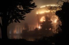 Palace of Fine Arts (jpaulus) Tags: architecture night fog glow lake trees