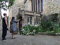 Saint Mary Magdalene Church - Woodstock, England - Flowerbed - A (seththompsonartist) Tags: flowers flower garden stone church magdalene wall
