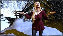 Let it Snow (LexiMorgan) Tags: leximorgan stellar stellarvelvetmattelipstick maitreya lelutka oleander yummy pixicat amala blueberry jd zaara swallow mbirdie ysys izzies avatar letitsnow photography snow winter secondlife holiday christmas redlipstick