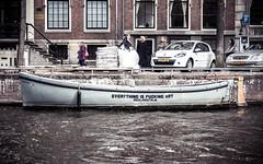 Everything is fucking art (michavoelkel) Tags: amsterdam netherlands niederlande art kunst grachten canals statements