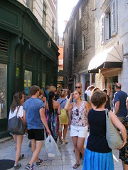 The ancient city of Split on the Adriatic Coast, Croatia summer 2016 (sean and nina) Tags: croatia hrvatska split adriatic coast town city ancient history historical architecture buidings houses shops monuments ruins brick stone people streets candid men women male female persons summer 2016 visitors tourists vacation sights balkan balkans europe european eu croatian old