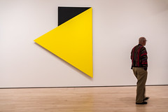 You're going the wrong way! (Rnout) Tags: usa sanfrancisco sfmoma sanfranciscomuseumofmodernart ellsworthkelly yellowreliefwithblack