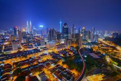 Kuala Lumpur City (by nelzajamal) Tags: nelzajamal klcc kl kualalumpur city petronas twintower blue night kltower long exposure sony a7r