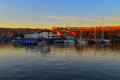 Winter light....... (Dafydd Penguin) Tags: winter light cumberland basin bristol floating harbour tilt shift water sunlight sun explore boats vessels harbor port dock uk sea marine nikon df nikkor 35mm af f2d