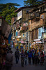 Architectural Chaos (Ash and Debris) Tags: market street people chaos city shimla urbanlife indians mix indian india mixture urban architecture streetlife wall gouse walls houses