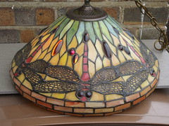 Dragonfly Tiffany Style Glass Light Fitting Car Boot Sale Find (beetle2001cybergreen) Tags: dragonfly tiffany style glass light fitting car boot sale find