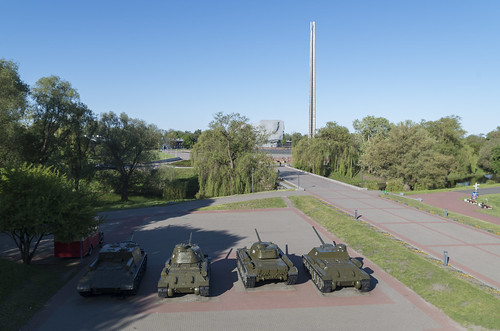 Tanks within Brest Fortress Memorial Complex, 05.05.2014.
