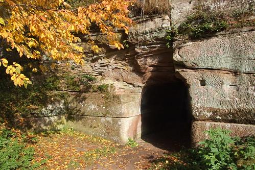 Entrance of Château de Lœwenstein, 01.11.2011.