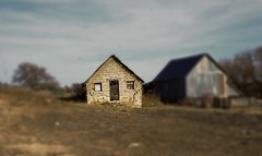 By The Roadside (pam's pics-) Tags: ks kansas midwest us usa america smalltown pamspics pammorris architecture washingtonkansas cubakansas abandoned farm rural stone sonya6000 highway36 barn shed sonte tiltshift
