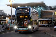 Stagecoach South East (Folkestone)  'Wave' branded 10712 (Terry S. Blackman) Tags: wave 10712 bus stagecoach hastings sussex transport sn66vwa folkestone south east eastkent oldromney eastsussex southeast station 100 101 adl enviro 400 mmc alexander dennis