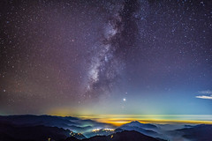 DSC08334 (a99775599) Tags: taiwan nantou sunset moutain cloud      sony a6000 e16 sel16f28 ecu1  milkyway