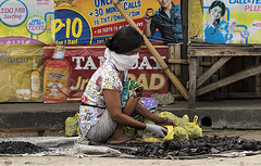 Charcoal for Sale (Beegee49) Tags: street city cooking sale philippines charcoal cadiz bags fuel bagged