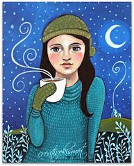 Winter (Regina Lord (creative kismet)) Tags: winter portrait woman art fall girl season paintings