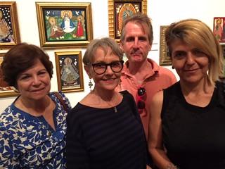 Chipi Morales, Barbara Young, Tom Austin and Cristina Favretto at the Margarita Cano opening at the Miami Dade Public Library