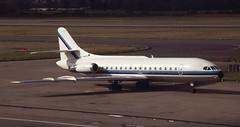 F-GGKD. Air Service Nantes Se.210 Caravelle (Ayronautica) Tags: march edinburgh aviation scanned 1992 airliners caravelle sudaviation se210 fggkd airservicenantes ayronautica