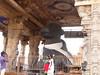 The Big Temple (4a): The Nandi (v s raam (on/off)) Tags: world india tower heritage architecture temple living site big outdoor great guard lord unesco mount temples vehicle nandi shiva gigantic chisel thanjavur siva lingam tamil raja gatekeeper largest nadu shikara sikhara chola thebull kovil tanjore monolithic vimanam shikhara sanctorum vahana vimana peruvudaiyar mahalingam santum sikara brihadeeswarar rajarajeswaram cholai garbhagriha rajarajeshwara
