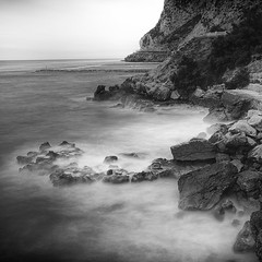 Let Me Fall Down Again (sebistaen) Tags: longexposure sea white black flickr wave gibraltar sbastien lemercier canoneos7dmarkii sebistaen breakthroughphotography x3neutraldensity10stop