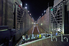 China 2015. Hubei. Crossing of a lock of the Three Gorges Dam. (Margnac) Tags: china river boat lock yangtze jeanpaul chine fleuve cruiseboat cluse threegorgesdam margnac yangts nightnavigation navigationdenuit