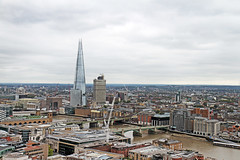 The Shard (Garrett Rock) Tags: city uk greatbritain england urban london weather thames clouds view cloudy britain stpauls september observatory vista wren christopherwren stpaulscathedral overlook shard riverthames renzopiano cityoflondon vantagepoint centrallondon churchofengland sirchristopherwren theshard toppoint thamesrivermarchitecture