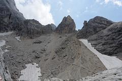 Zejście z przełęczy Margherita do schroniska Mulaz