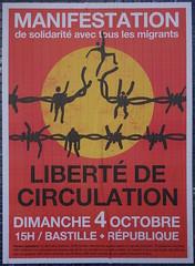 Libert de circulation (emmanuelsaussieraffiches) Tags: poster political politique ensemble affiche fdrationanarchiste lutteouvrire nouveaupartianticapitaliste alternativelibertaire