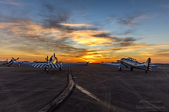 Sunrise On The Trainers (rebeccalatsonphotography) Tags: sky clouds sunrise canon airplane outdoors texas outdoor tx aviation wwii houston airshow trainer warbird wingsoverhouston avgeek 5dsr