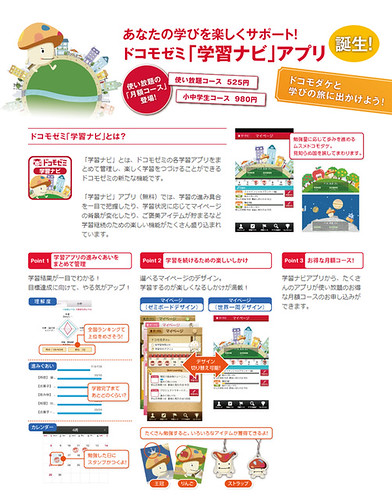 ドコモゼミ『学習ナビ』アプリの写真