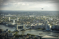Dramatic view of Tower Bridge from the Gherkin (Lex Photographic) Tags: gherkin the searcys wealthbuilders
