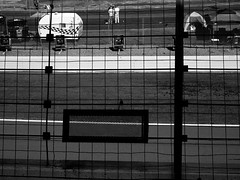 cms4 (RealWillT) Tags: car race fence october automobile charlotte stock nascar catch motor speedway