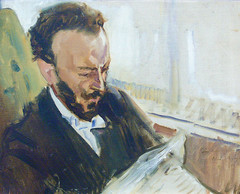 slevogt_francisco_andrade_reading_newspaper_1903 (Art Gallery ErgsArt) Tags: museum painting studio poster artwork gallery artgallery fineart paintings galleries virtual artists artmuseum oilpaintings pictureoftheday masterpiece artworks arthistory artexhibition oiloncanvas famousart canvaspainting galleryofart famousartists artmovement virtualgallery paintingsanddrawings bestoftheday artworkspaintings popularpainters paintingsofpaintings aboutpaintings famouspaintingartists