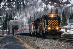 Ski Train '60s (Moffat Road) Tags: railroad train colorado co locomotive ansco riogrande skitrain moffattunnel eastportal passengertrain emd drgw denverandriograndewestern gp60 riograndeskitrain upmoffattunnelsubdivision no3155