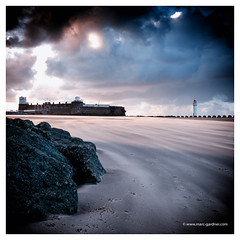 Perch Rock (MDG534621) Tags: uk england lighthouse seascape clouds sand wirral newbrighton