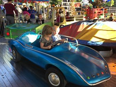 """Paul and Inde Ride in a Car at Sonny Acres • <a style=""""font-size:0.8em;"""" href=""""http://www.flickr.com/photos/109120354@N07/22597571033/"""" target=""""_blank"""">View on Flickr</a>"""