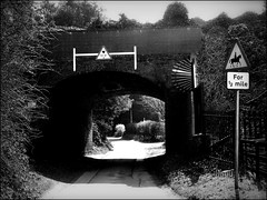 Low bridge (AJ Worrall) Tags: bridge railway worcestershire monochrone