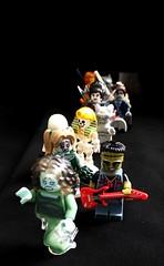 Halloween Party (MlleChantilly) Tags: party halloween skeleton lego vampire 14 ghost banshee frankenstein queue minifig minifigs serie salaryman vampirella catgirl gargoil warewolf pompomgirls