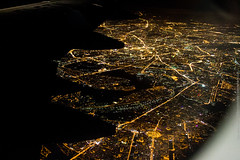 Moscow from Above (Wholesale of Void) Tags: city autumn urban panorama fall night plane russia moscow flight september bigcity