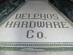 OH Delphos - Delphos Hardware Co (scottamus) Tags: ohio tile floor entrance storefront welcome entry terrazzo allencounty delphos vanwertcounty delphoshardwareco