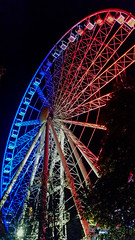 Budapest Eye in French tricolour (craggyisland21) Tags: budapest ferris ferriswheel pest