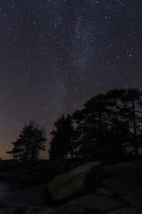 Milky Way seen from Lippukari (Juho Holmi) Tags: sky lake beautiful k suomi finland stars star boat scenery kayak finnland pentax 5 north paddle sigma 45 clear kayaking 17 28 paddling 70 tampere starry loma k5 finlandia jrvi nsijrvi pohjoinen yljrvi 1770mm f2845 pirkanmaa ylinen mutala korpisaari lippukari kystil