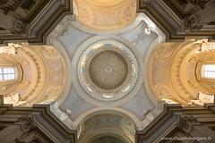 Il soffitto della cappella di Sant'Umberto