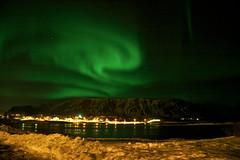 Norðurljós yfir Ingólfsfjalli (skolavellir12) Tags: island lights iceland northern lys borealis selfoss suðurland norðurljós ingólfsfjall ölfusá