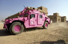 Hummer Hello Kitty (Kaigara Online) Tags: hello pink love fun photo war peace iraq kitty gimp linux editing hummer humvee isis