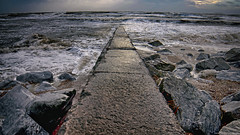Walkway at Youghal Beach