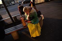 Warsaw emotions during the walk. (maj.mieszko) Tags: city man dark photo women emotion report warsaw now