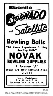 novak bowling supplies 1960