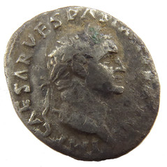 Denarius of Vespasian, 70 AD obv (Welcome to The PAST) Tags: hammered treasure roman brooch medieval hoard republican ironage fibula denarius denarii