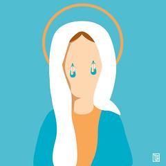 Madonne che piangono Madonne (Yelena Maria Drinkie) Tags: vector vectorillustration madonna virginmary tears lacrime graphic grafica illustrazione