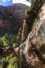 Zion NP - Emerald Pool - Waterfall (Rik Tiggelhoven Travel Photography) Tags: zion canyon np national park service nps utah usa america amerika natuur nature landscape landschaft landschap landskap paysage paisagem paisaia paisaje paisaxe outdoor waterfall mountain mountains rock formation rockformation canon 6d fullframe ef1740mmf4lusm rik tiggelhoven travel photography
