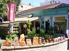 Skadarlija - Belgrade August 2016 (seanfderry-studenna) Tags: ulica skarlija beograd gelgrade cobbled street artisan area arts crafts tourism tourist cafes bars restaurants eating places tours visitors vacation holiday attraction city old historic character serbia serb srbija republic balkan balkans europe european capital people persons candid public outdoor outside   republika buildings architecture history culture quirky artsie pedestrian summer sun sunhine shade shadows august 2016