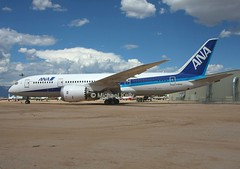 (ANA)                                    Boeing 787 dreamliner                               N787EX (Flame1958) Tags: ana allnipponairways allnipponairlines anab787 boeing dreamliner b787 787 boeingdreamliner boeing787 pima pimamuseum pimaairandspacemuseum museumaircraft airmuseum museum n787ex 300816 0816 2016 1433